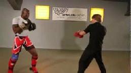 Kickboxing pad training: Peter Teijsse and Jerrel Venetiaan showing some pad training basics.